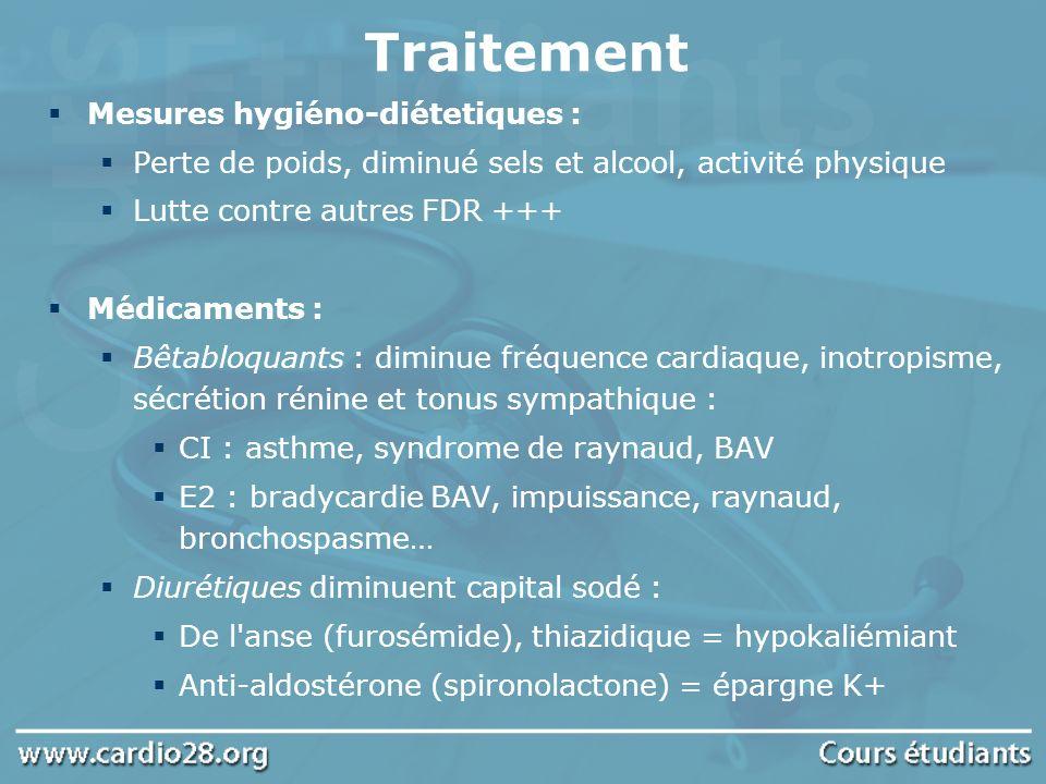 Traitement Mesures hygiéno-diétetiques :