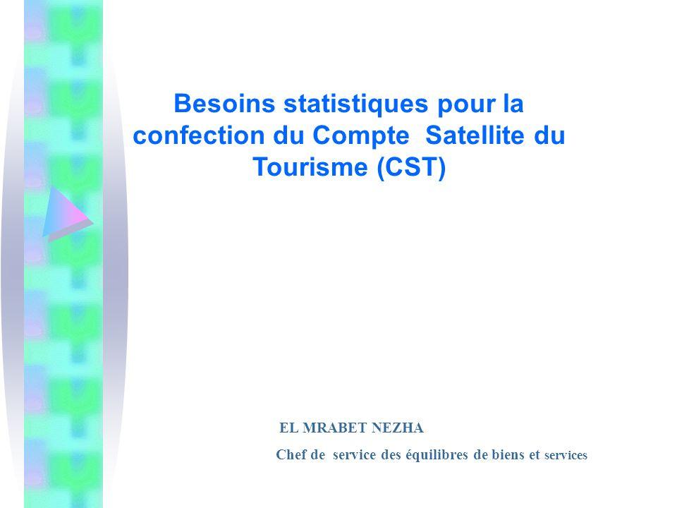 Besoins statistiques pour la confection du Compte Satellite du Tourisme (CST)