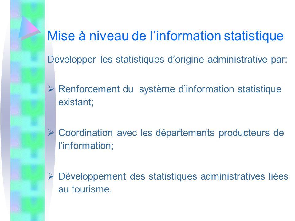 Mise à niveau de l'information statistique