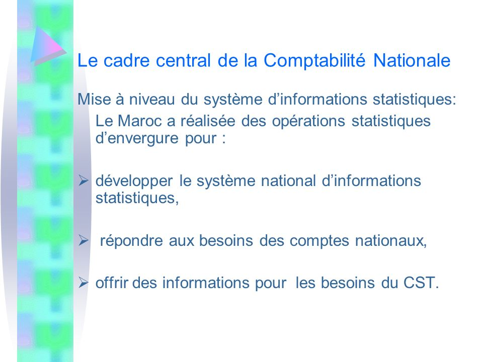 Le cadre central de la Comptabilité Nationale