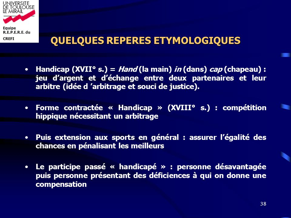 QUELQUES REPERES ETYMOLOGIQUES