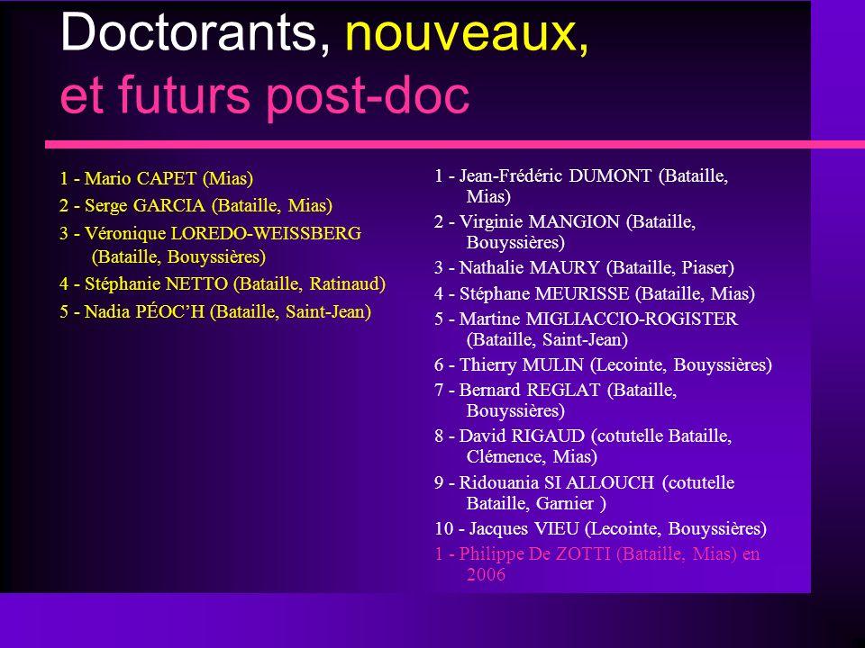 Doctorants, nouveaux, et futurs post-doc