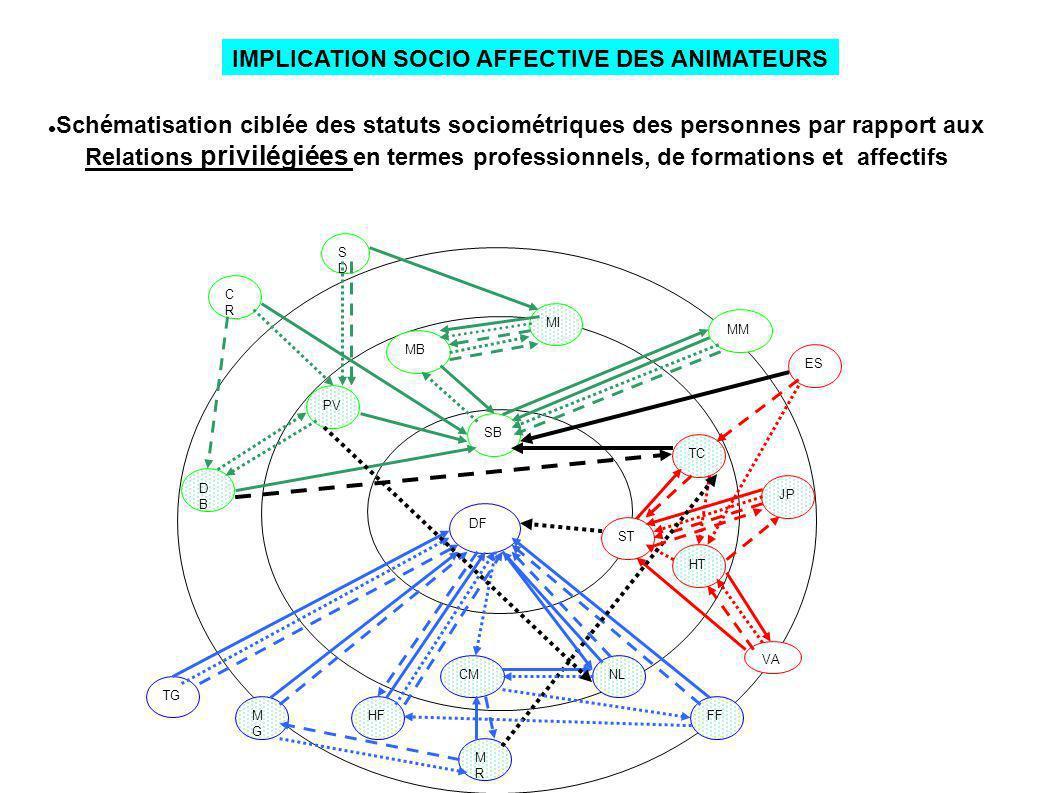 IMPLICATION SOCIO AFFECTIVE DES ANIMATEURS