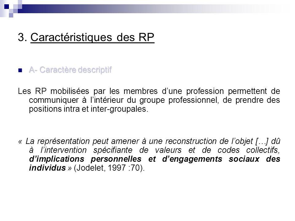 3. Caractéristiques des RP