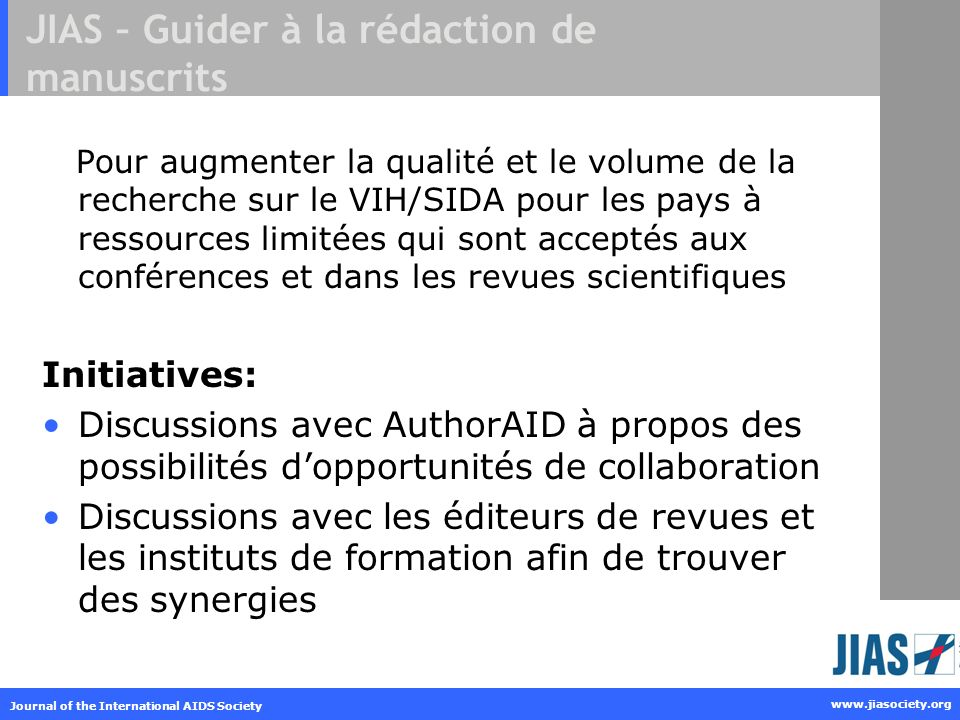 JIAS – Guider à la rédaction de manuscrits