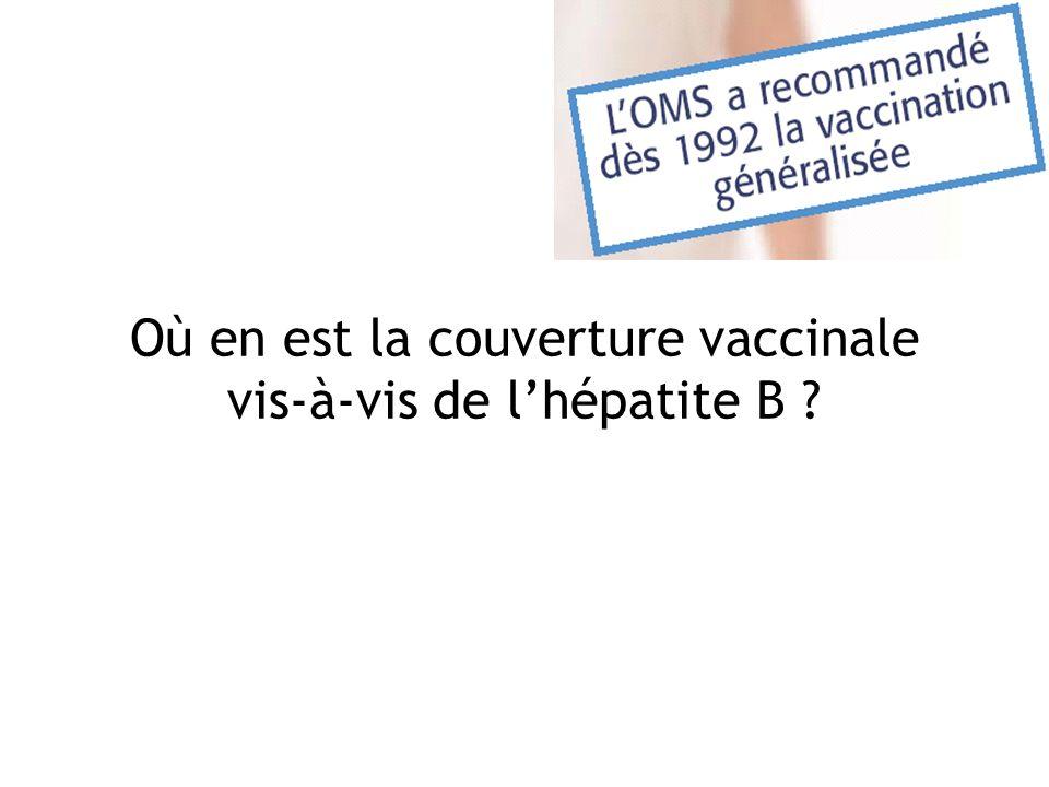 Où en est la couverture vaccinale vis-à-vis de l'hépatite B