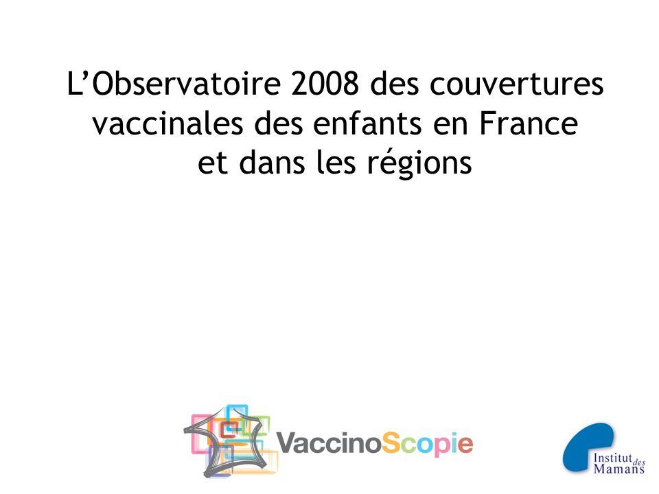 L'Observatoire 2008 des couvertures vaccinales des enfants en France et dans les régions