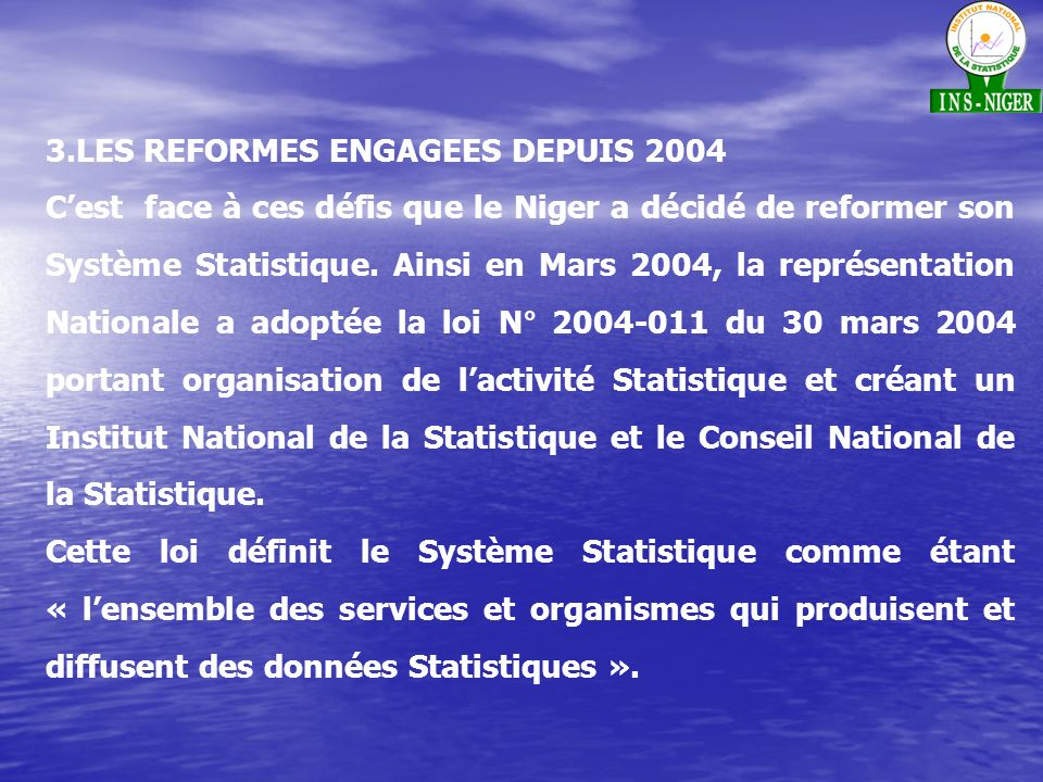 3.LES REFORMES ENGAGEES DEPUIS 2004