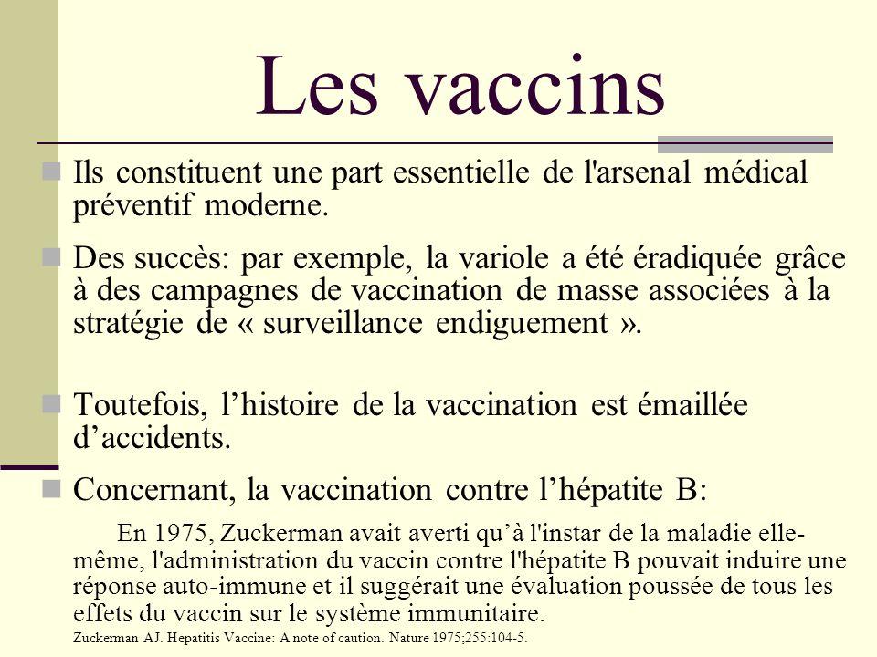 Les vaccins Ils constituent une part essentielle de l arsenal médical préventif moderne.