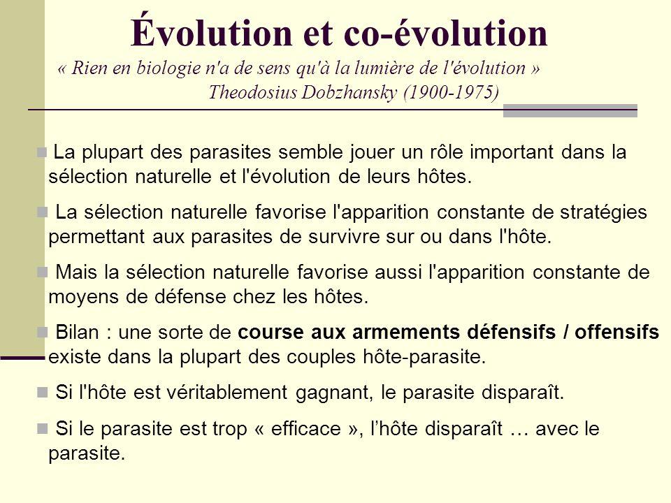 Évolution et co-évolution « Rien en biologie n a de sens qu à la lumière de l évolution » Theodosius Dobzhansky (1900-1975)