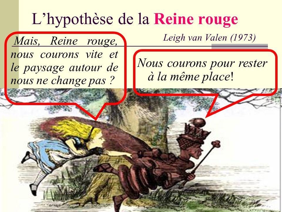 L'hypothèse de la Reine rouge Leigh van Valen (1973)