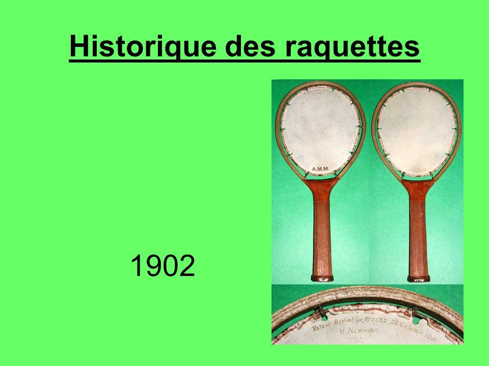 Historique des raquettes