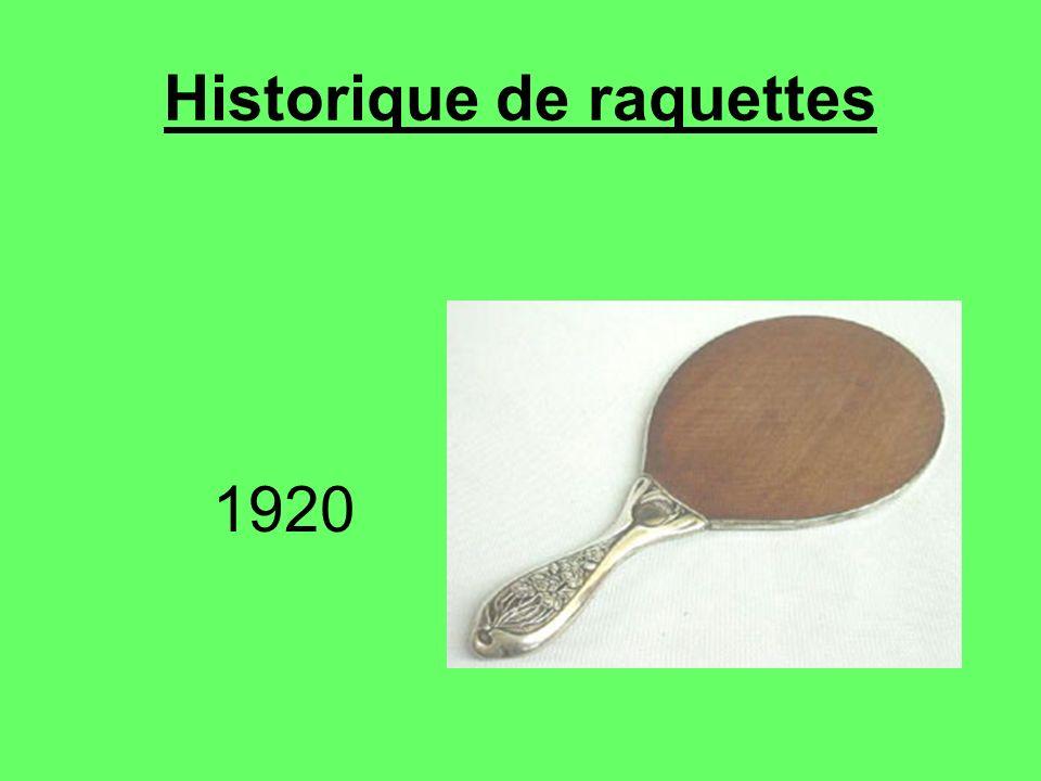 Historique de raquettes