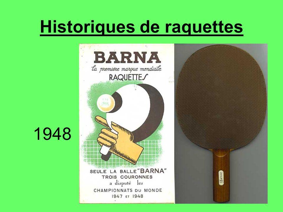 Historiques de raquettes