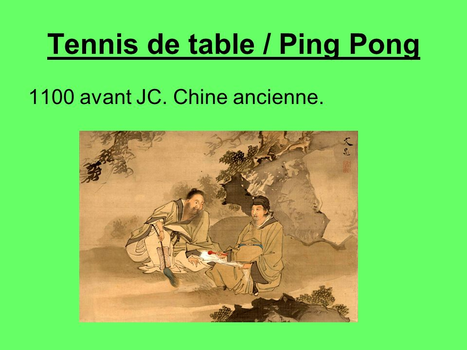 Tennis de table / Ping Pong