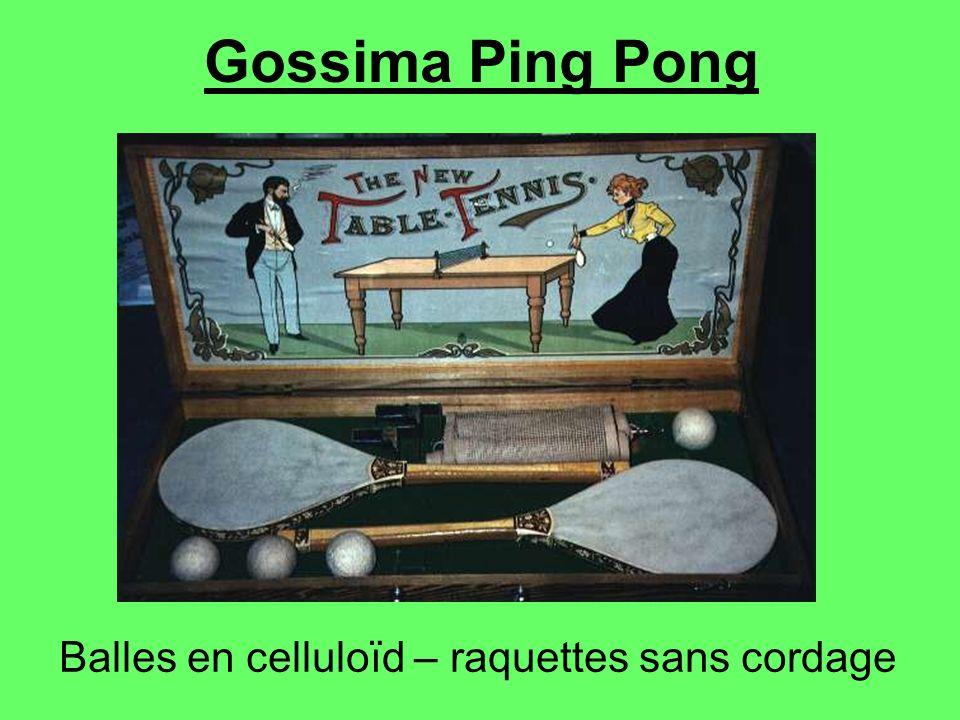 Gossima Ping Pong Balles en celluloïd – raquettes sans cordage