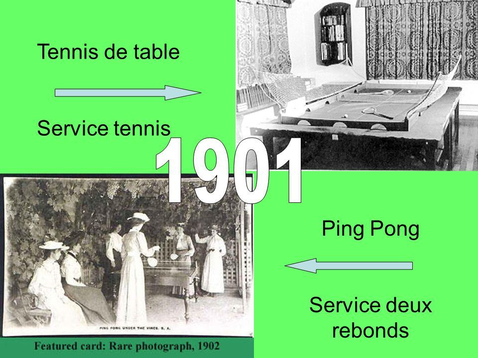 Tennis de table Service tennis 1901 Ping Pong Service deux rebonds