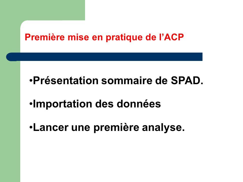 Première mise en pratique de l'ACP