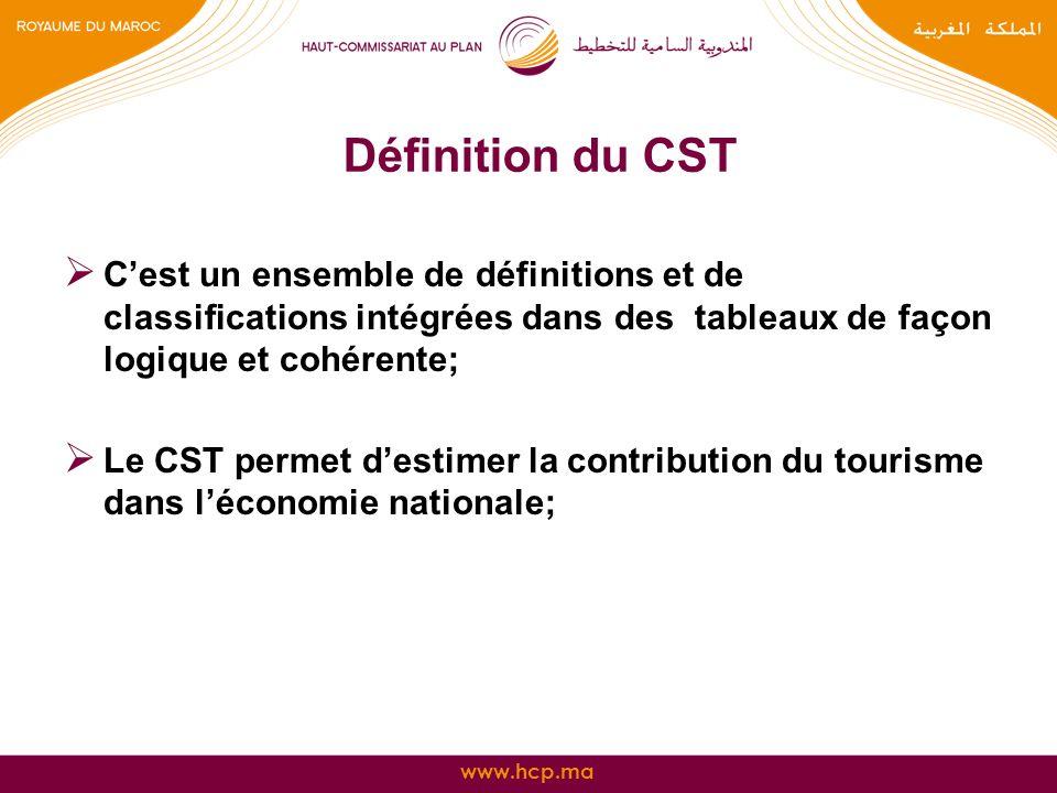 Définition du CST C'est un ensemble de définitions et de classifications intégrées dans des tableaux de façon logique et cohérente;