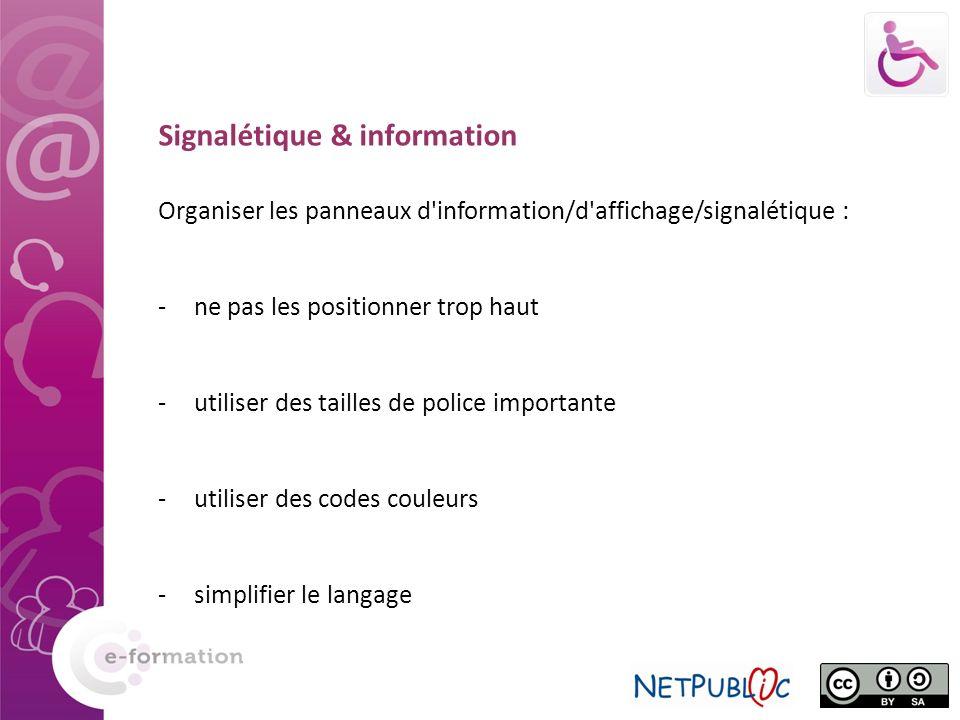 Signalétique & information