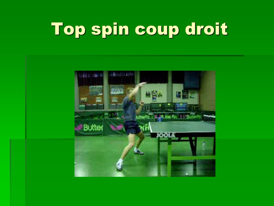Top spin coup droit