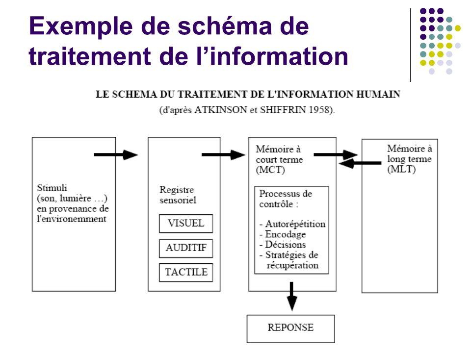 Exemple de schéma de traitement de l'information