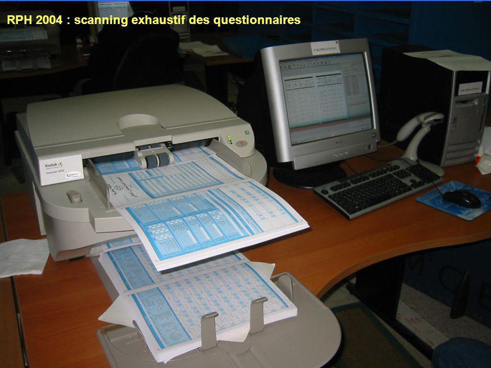 RPH 2004 : scanning exhaustif des questionnaires