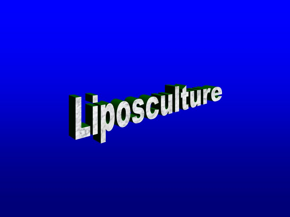 Liposculture