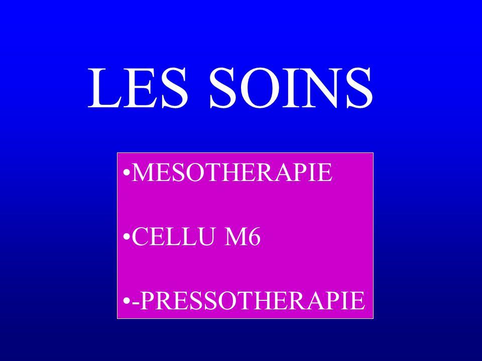 LES SOINS MESOTHERAPIE CELLU M6 -PRESSOTHERAPIE