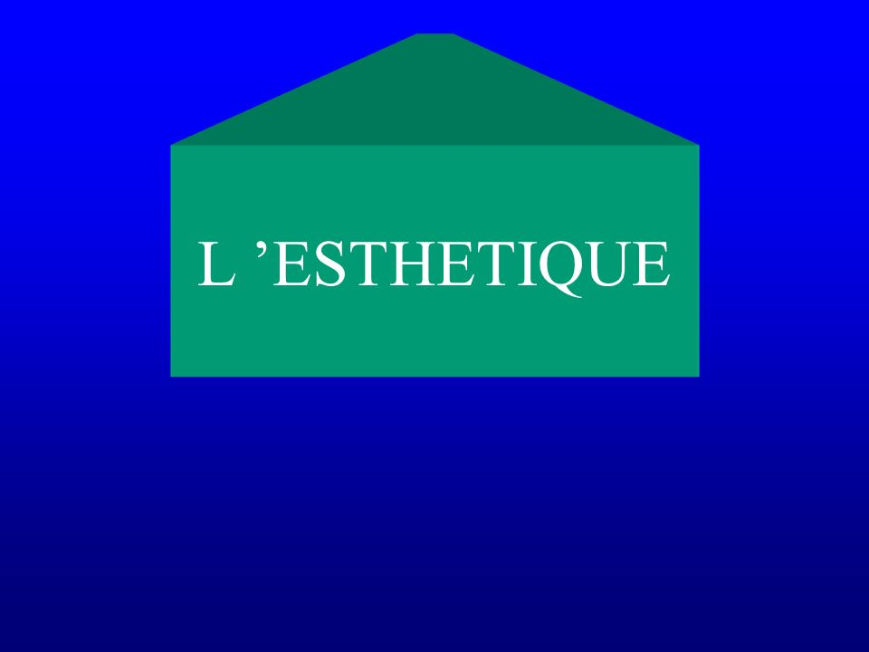 L 'ESTHETIQUE