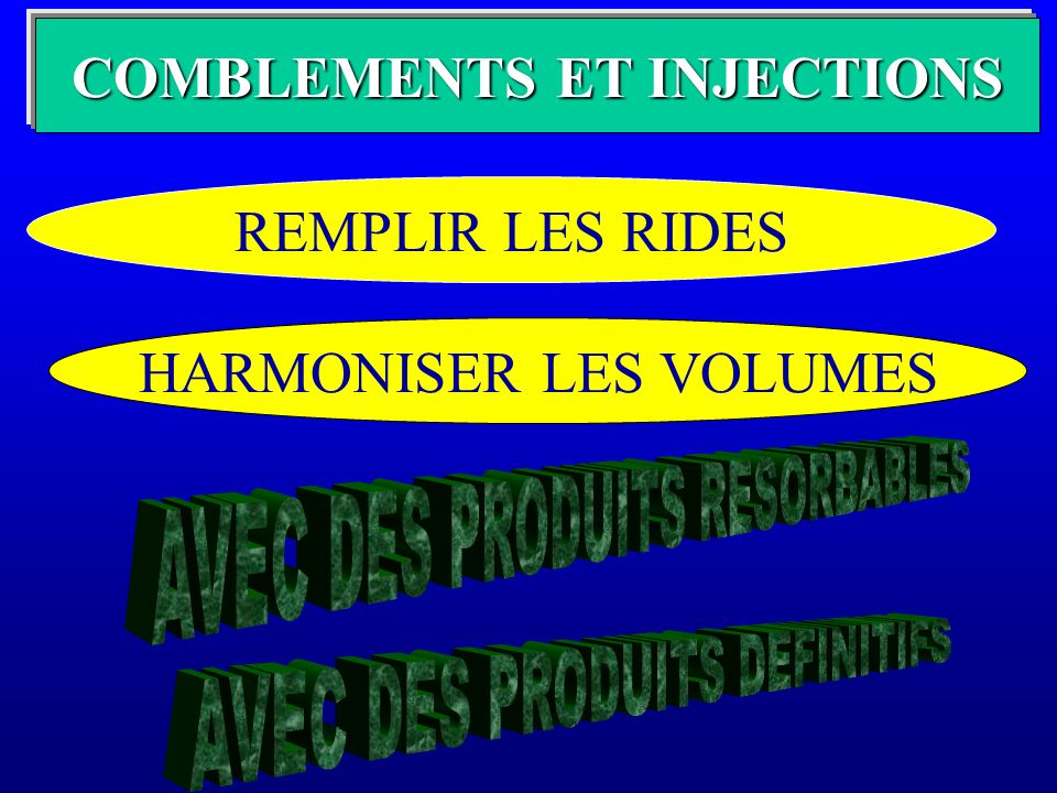 COMBLEMENTS ET INJECTIONS