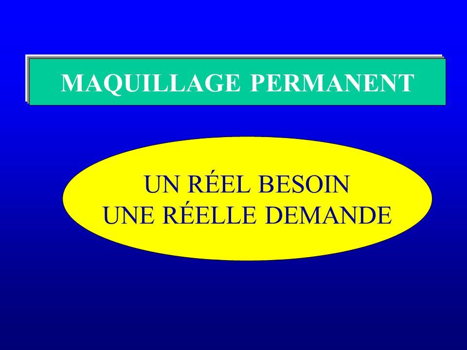 MAQUILLAGE PERMANENT UN RÉEL BESOIN UNE RÉELLE DEMANDE