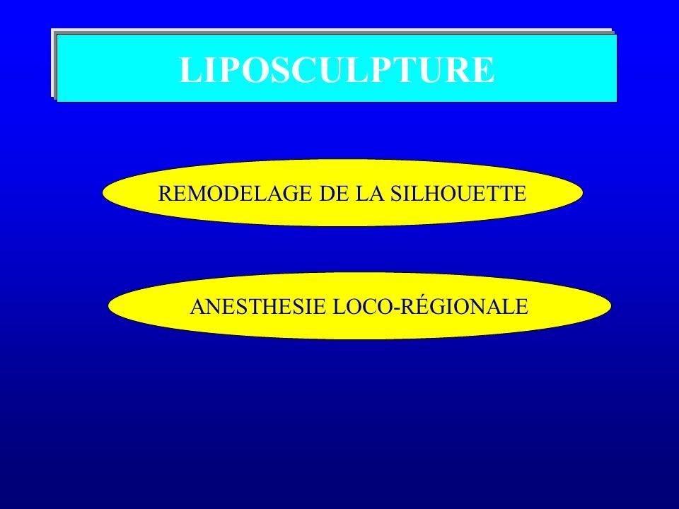 LIPOSCULPTURE REMODELAGE DE LA SILHOUETTE ANESTHESIE LOCO-RÉGIONALE