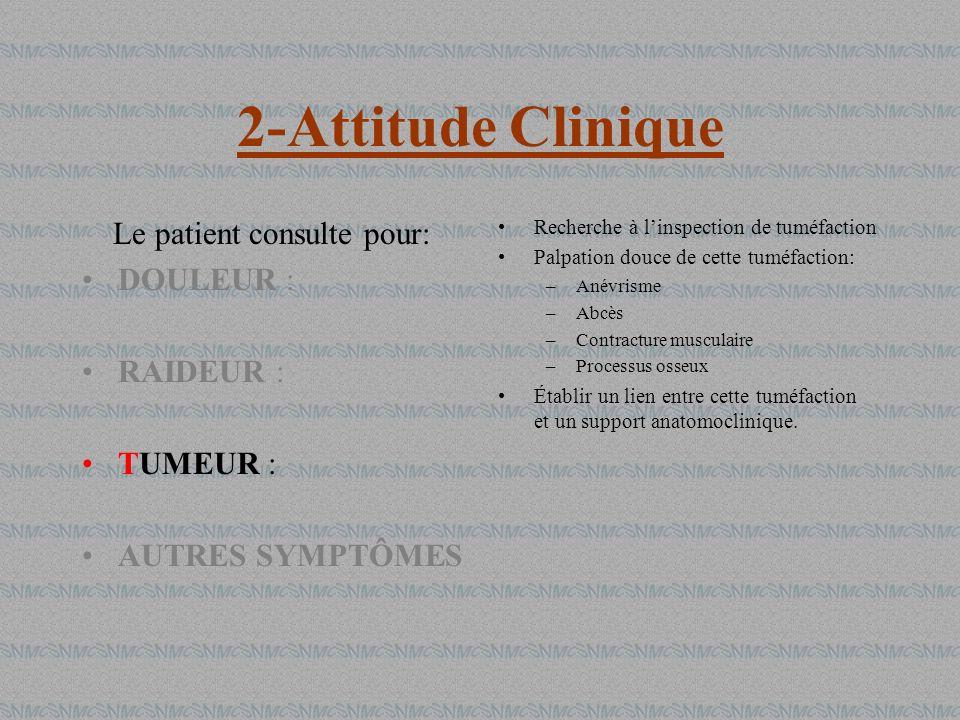 Le patient consulte pour: