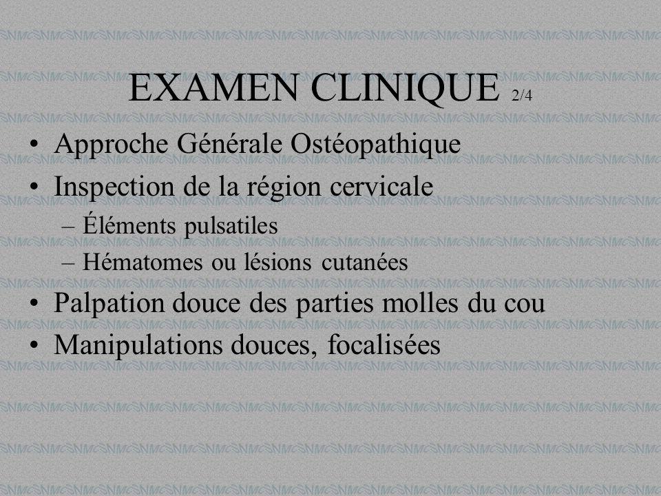 EXAMEN CLINIQUE 2/4 Approche Générale Ostéopathique