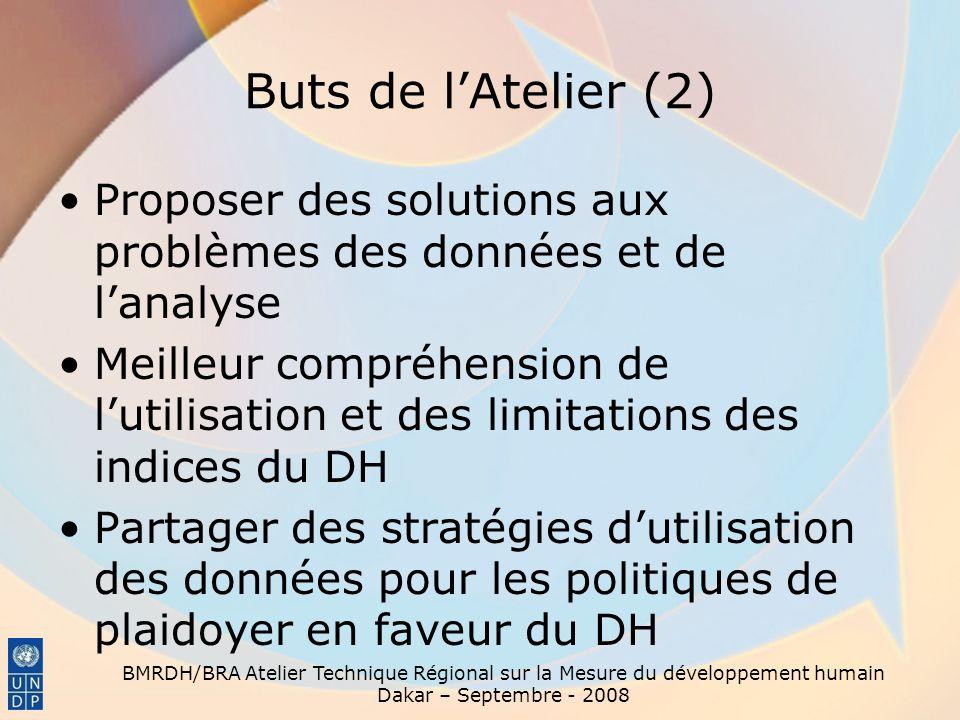 Buts de l'Atelier (2) Proposer des solutions aux problèmes des données et de l'analyse.