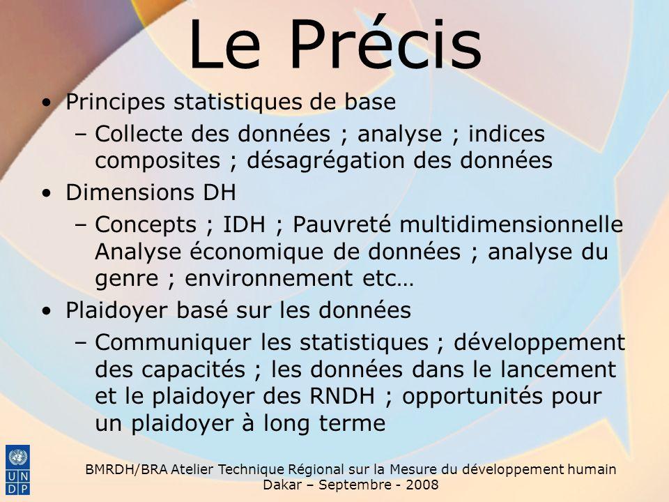 Le Précis Principes statistiques de base