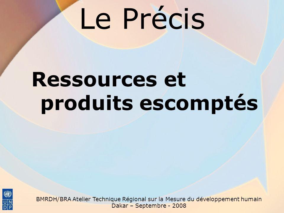 Le Précis Ressources et produits escomptés