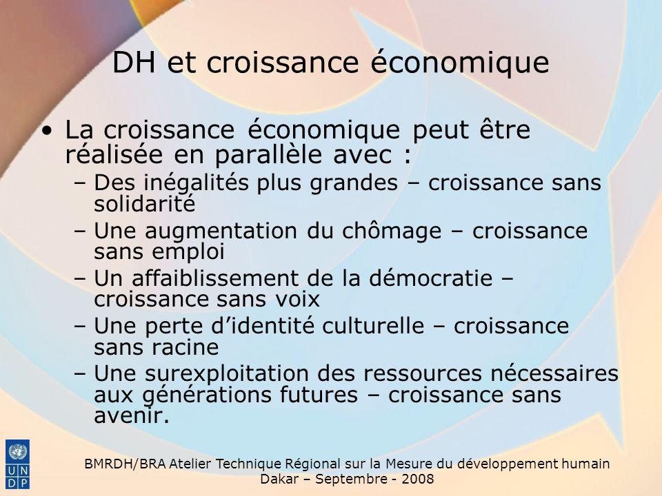 DH et croissance économique