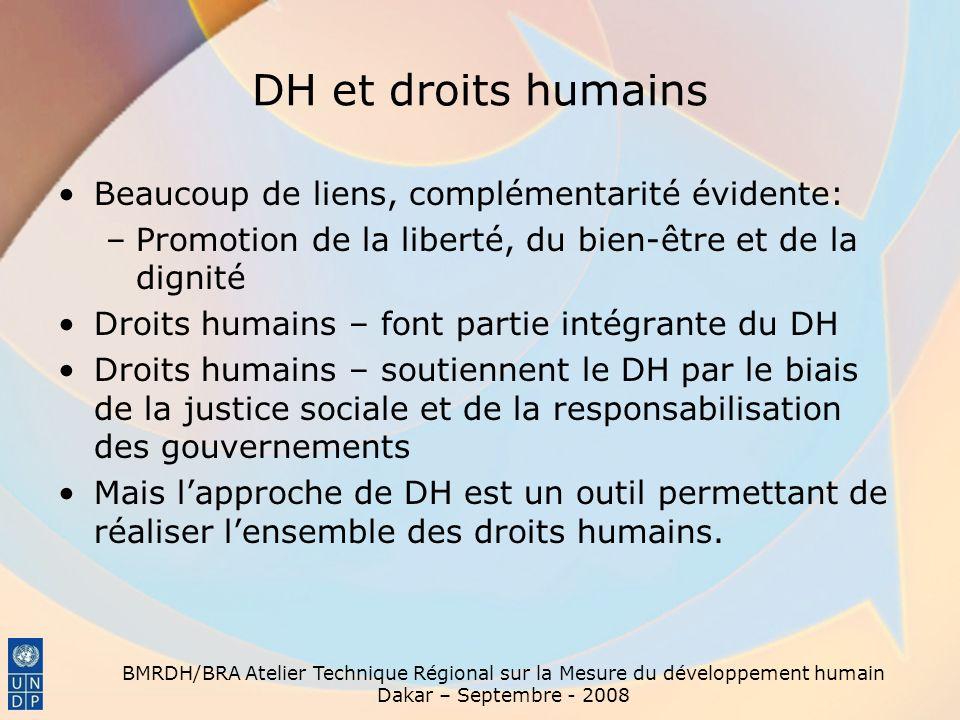 DH et droits humains Beaucoup de liens, complémentarité évidente:
