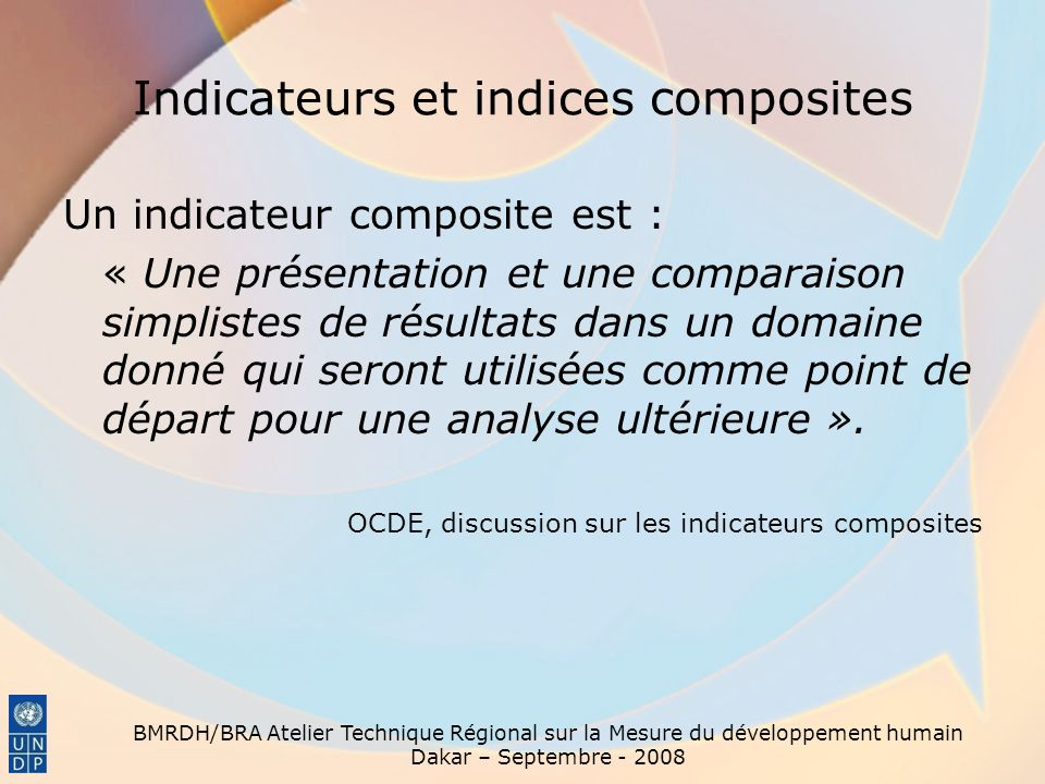 Indicateurs et indices composites