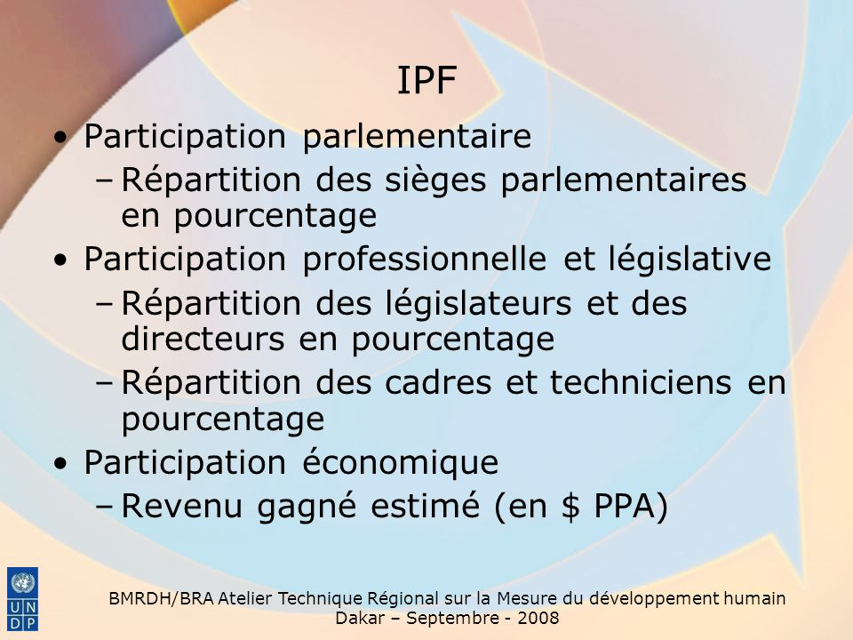 IPF Participation parlementaire