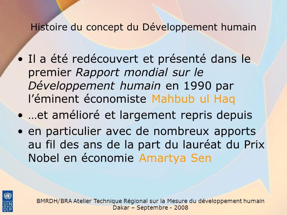 Histoire du concept du Développement humain
