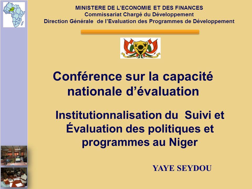 Conférence sur la capacité nationale d'évaluation