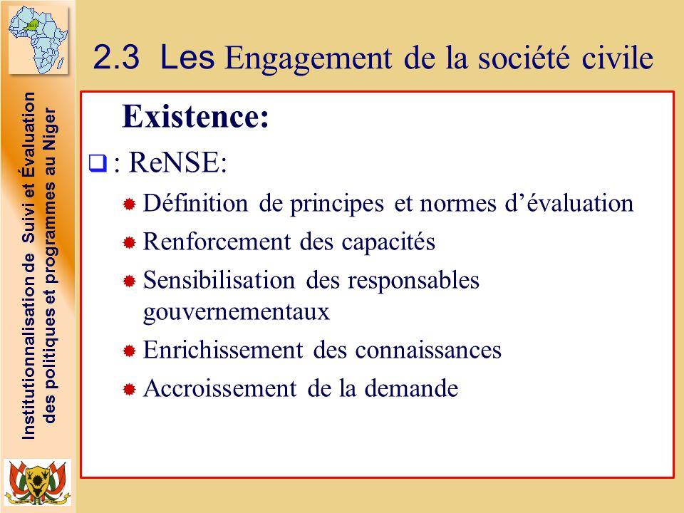 2.3 Les Engagement de la société civile