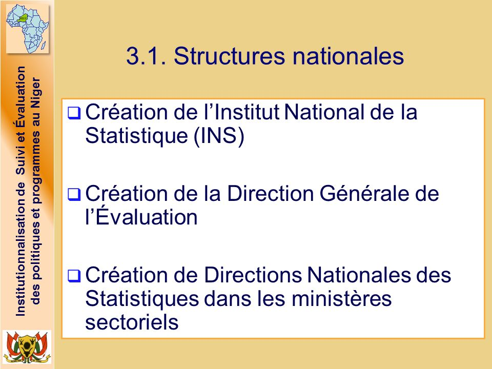 3.1. Structures nationales