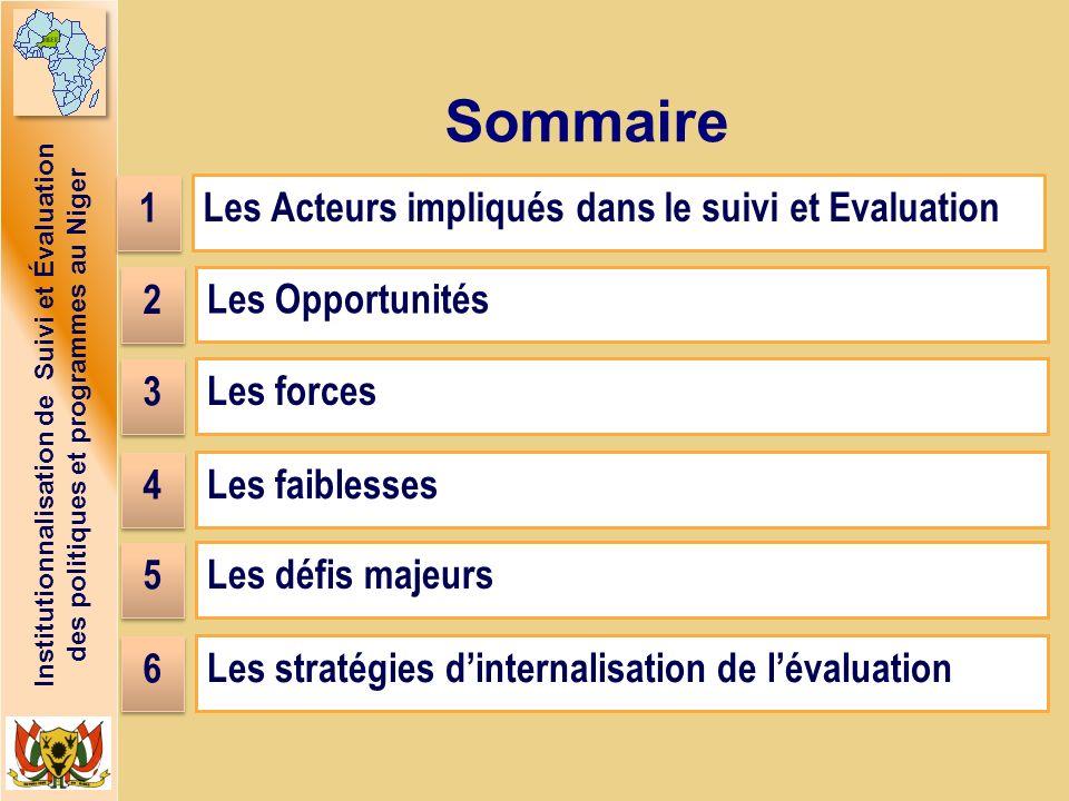 Sommaire 1 Les Acteurs impliqués dans le suivi et Evaluation 2