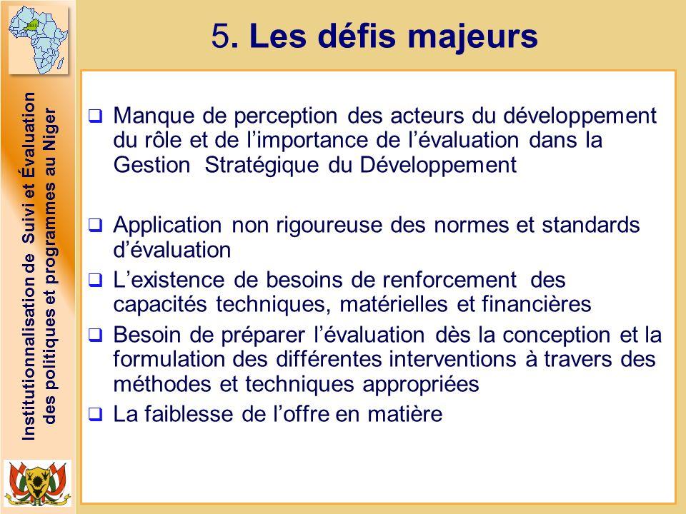 5. Les défis majeurs