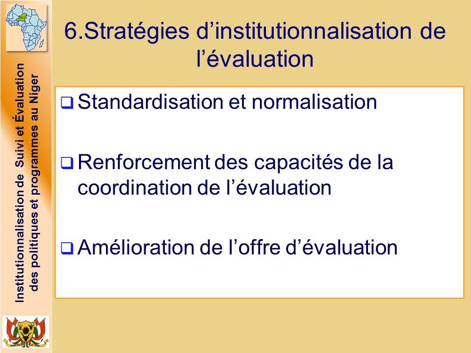6.Stratégies d'institutionnalisation de l'évaluation