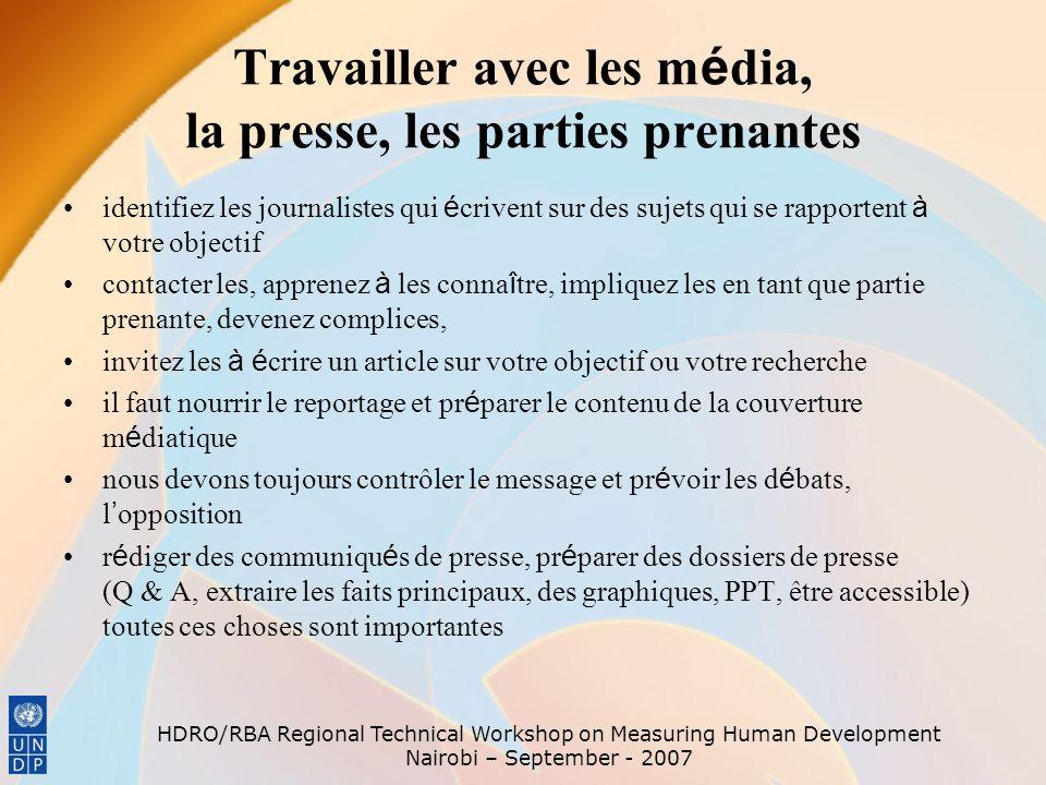 Travailler avec les média, la presse, les parties prenantes